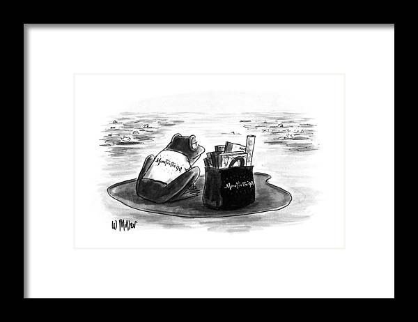 Art Framed Print featuring the drawing New Yorker March 5th, 1990 by Warren Miller
