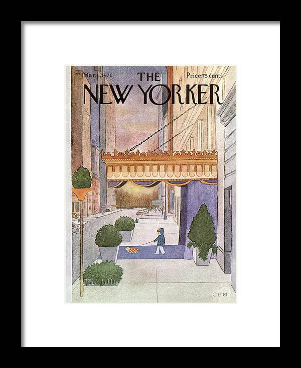 Upper East Side Framed Print featuring the painting New Yorker March 8th, 1976 by Charles E Martin