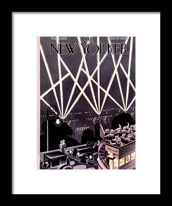 City Framed Print featuring the painting New Yorker May 16th, 1931 by Theodore G Haupt