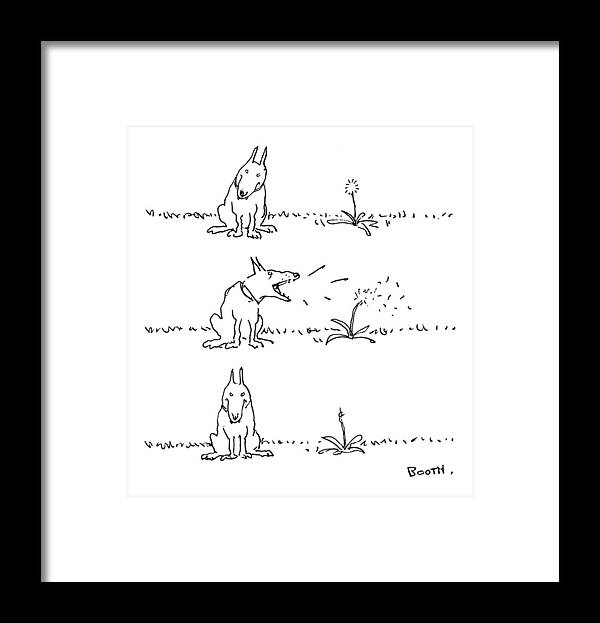 No Caption Framed Print featuring the drawing New Yorker May 22nd, 1978 by George Booth