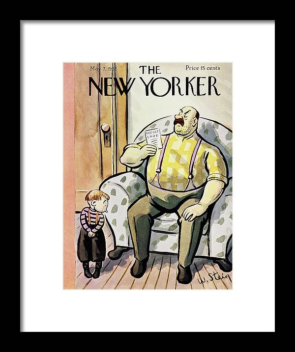 Illustration Framed Print featuring the painting New Yorker May 7 1932 by William Steig