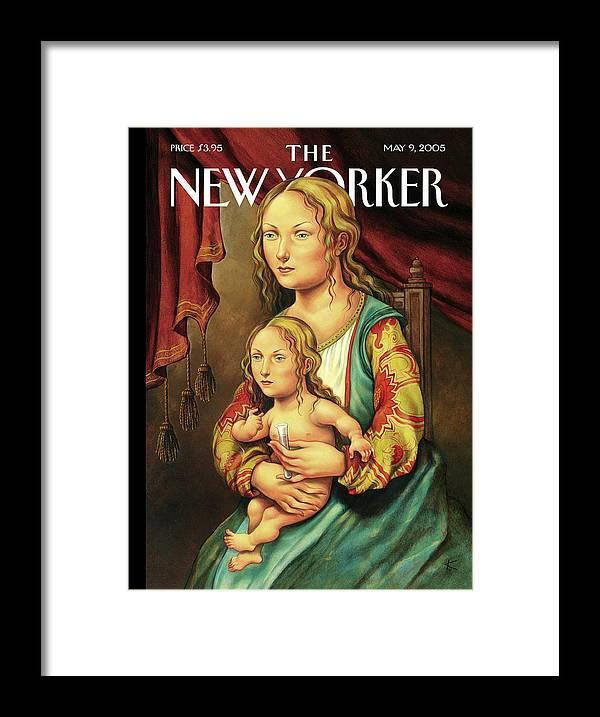 Like Mother Like Daughter Framed Print featuring the painting Like Mother Like Daughter by Anita Kunz