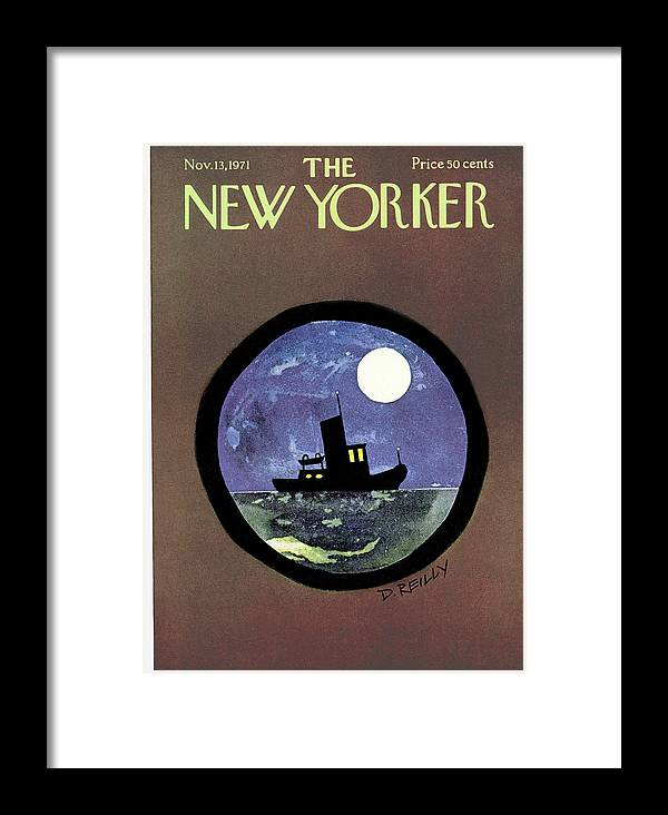 Donald Reilly Dre Framed Print featuring the painting New Yorker November 13th, 1971 by Donald Reilly
