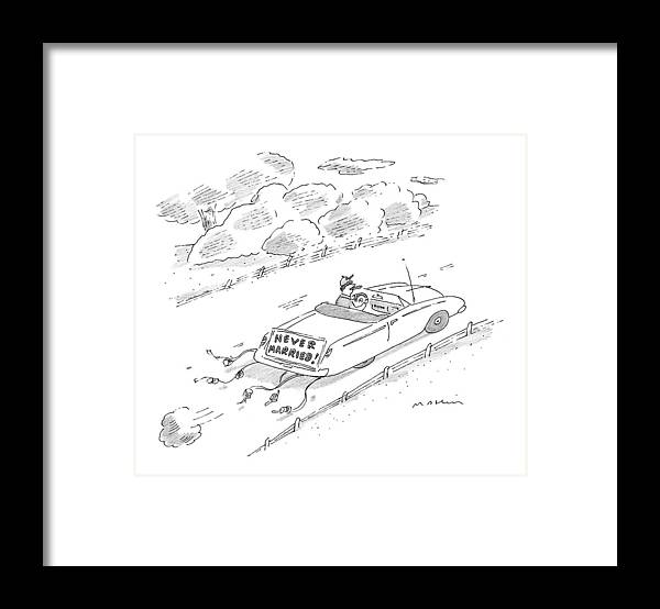 Marriage Framed Print featuring the drawing New Yorker November 16th, 1998 by Michael Maslin