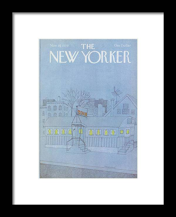 Food Framed Print featuring the painting New Yorker November 19th, 1979 by Marisabina Russo