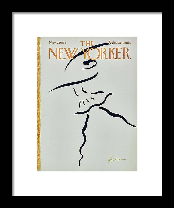 Illustration Framed Print featuring the painting New Yorker November 7th 1964 by Aaron Birnbaum