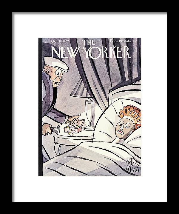 Robbery Framed Print featuring the painting New Yorker October 16 1937 by Peter Arno