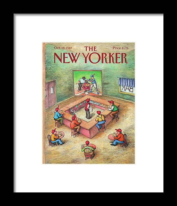 Leisure Framed Print featuring the painting New Yorker October 19th, 1987 by John O'Brien