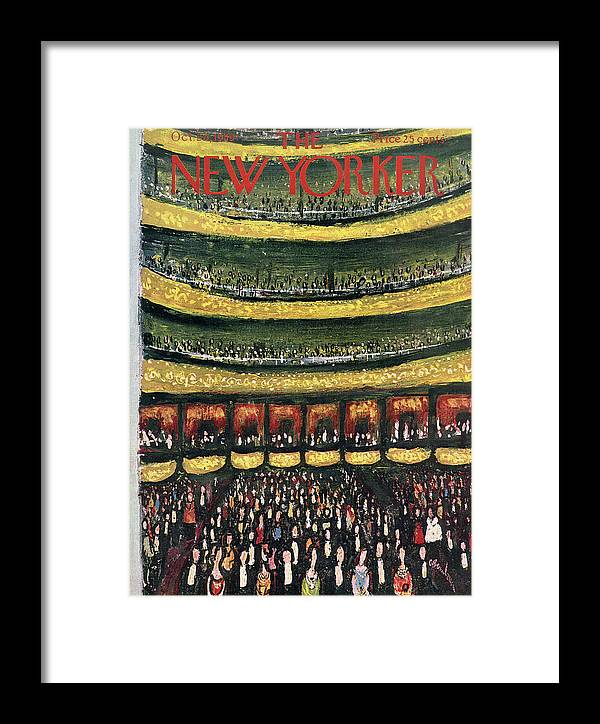Abe Birnbaum Abi Framed Print featuring the painting New Yorker October 24th, 1959 by Abe Birnbaum