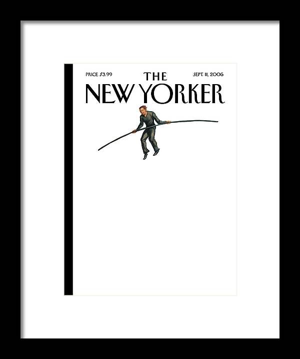 122849 Owen Smith Framed Print featuring the painting New Yorker September 11th, 2006 by Owen Smith