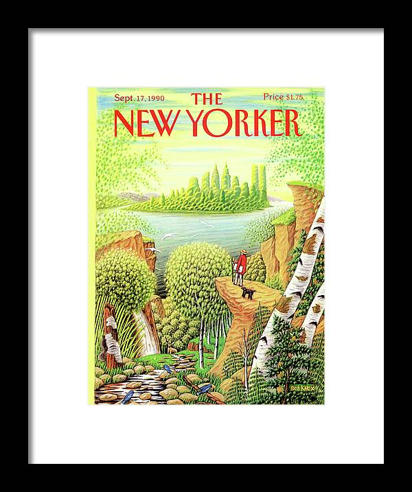 Animal Framed Print featuring the painting New Yorker September 17, 1990 by Bob Knox