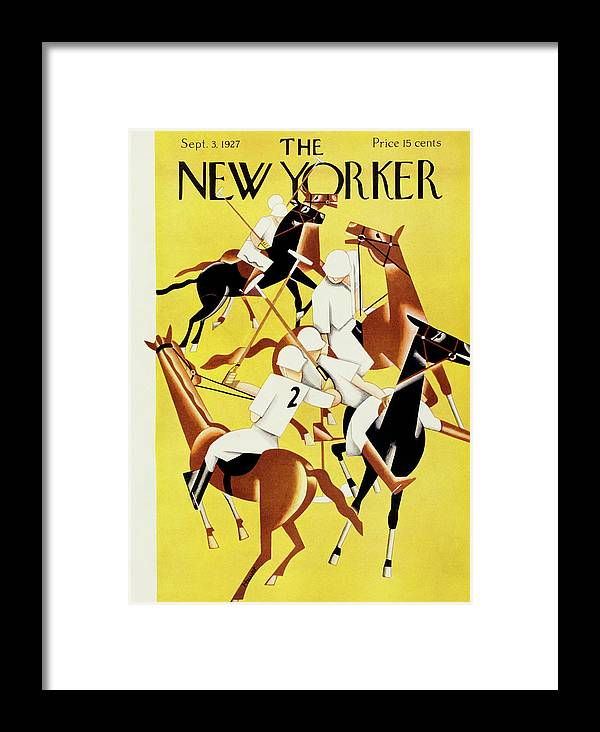 Illustration Framed Print featuring the painting New Yorker September 2 1927 by Theodore G. Haupt