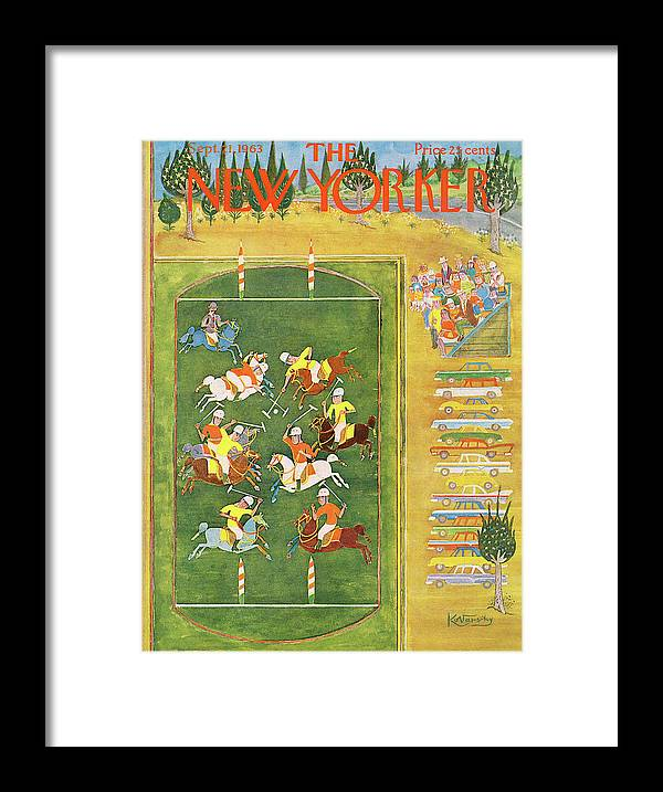 Sport Framed Print featuring the painting New Yorker September 21st, 1963 by Anatol Kovarsky