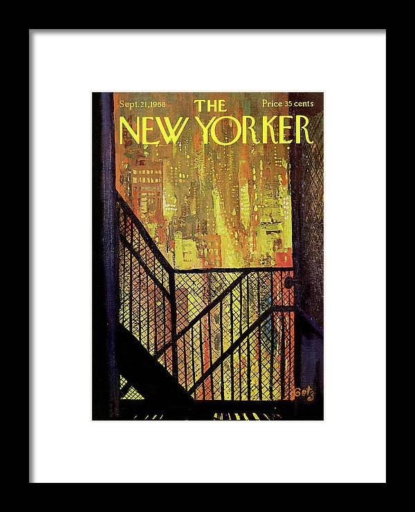 Arthur Getz Agt Framed Print featuring the painting New Yorker September 21st, 1968 by Arthur Getz