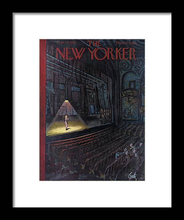 Concert Framed Print featuring the painting New Yorker September 23rd, 1950 by Arthur Getz