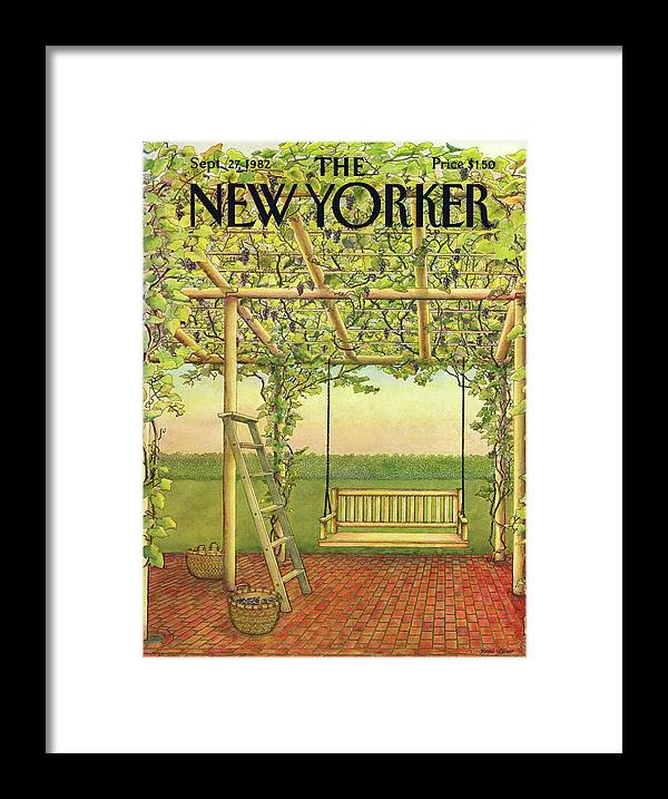 Leisure Framed Print featuring the painting New Yorker September 27th, 1982 by Jenni Oliver