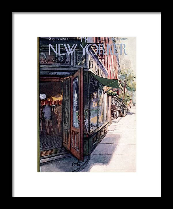 Suburb Framed Print featuring the painting New Yorker September 29th, 1956 by Arthur Getz