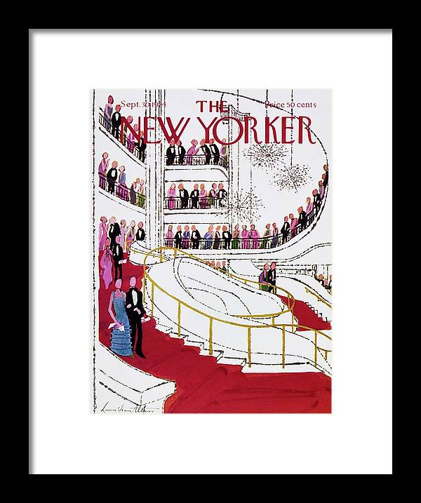 Illustration Framed Print featuring the painting New Yorker September 30th 1974 by Laura Jean Allen