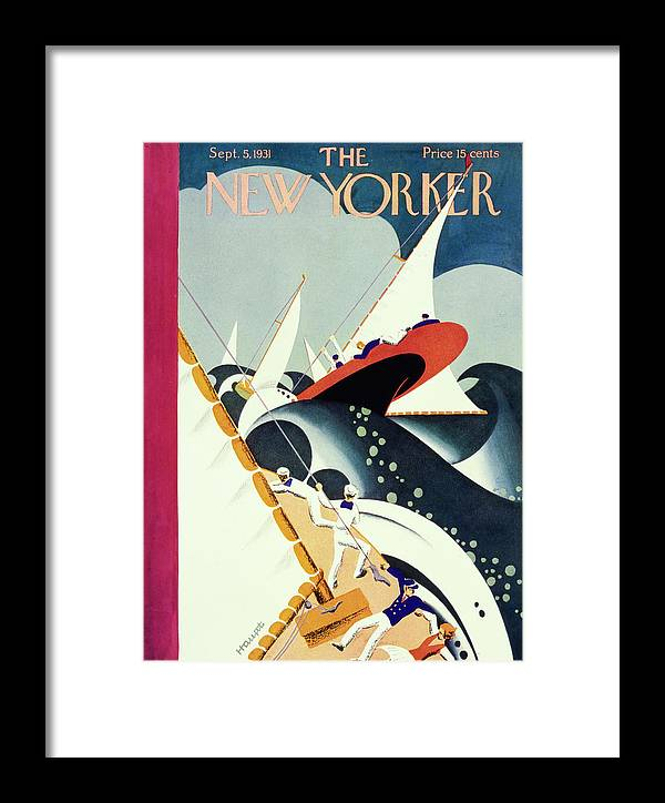 Illustration Framed Print featuring the painting New Yorker September 5 1931 by Theodore G Haupt
