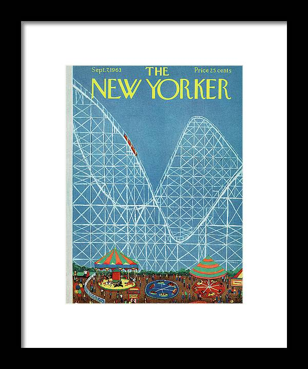 Attraction Framed Print featuring the painting New Yorker September 7th, 1963 by Robert Kraus
