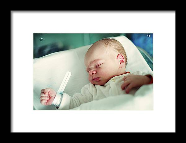 Tranquility Framed Print featuring the photograph Newborn Boy. First Day by Aleksandr Morozov