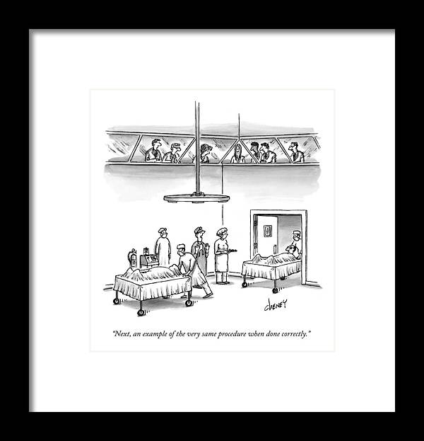 Correct Framed Print featuring the drawing Next, An Example Of The Very Same Procedure When by Tom Cheney