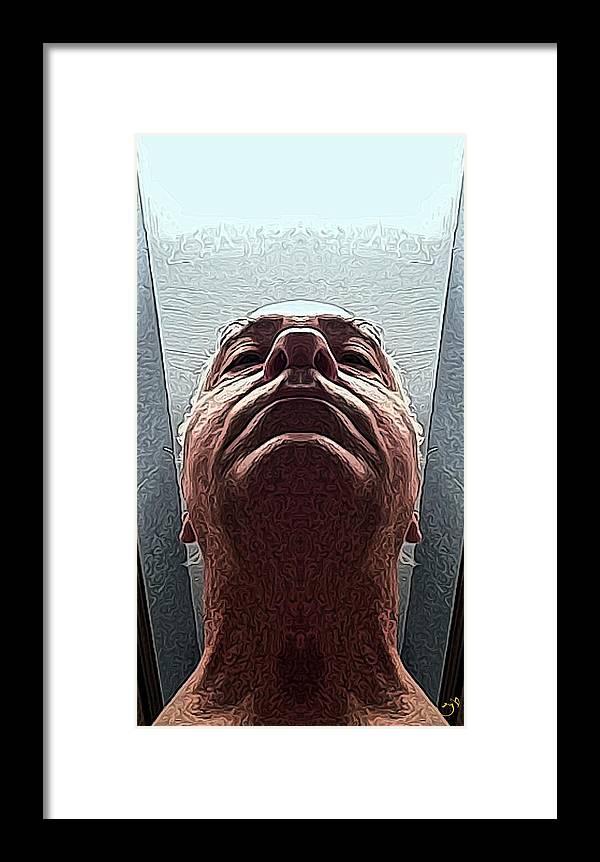 Portrait Framed Print featuring the digital art Next by Ron Bissett