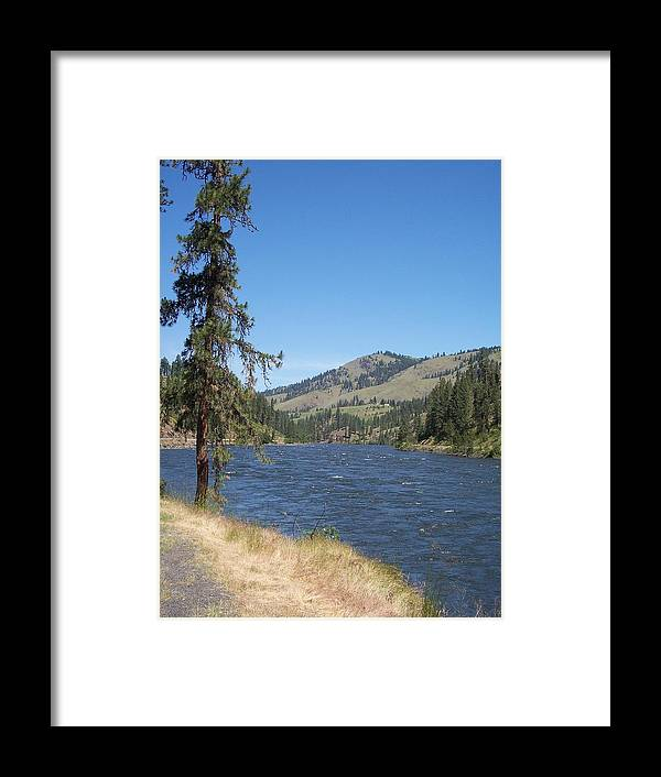 Clearwater River Framed Print featuring the photograph Next Stop Orofino by Georgia Hamlin