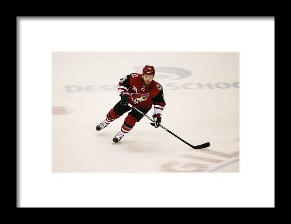 National Hockey League Framed Print featuring the photograph NHL: MAR 31 Capitals at Coyotes by Icon Sportswire
