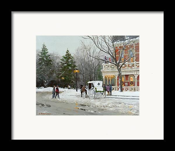 Niagara Carriage Framed Print featuring the painting Niagara Carriage By The Prince Of Wales by Michael Swanson