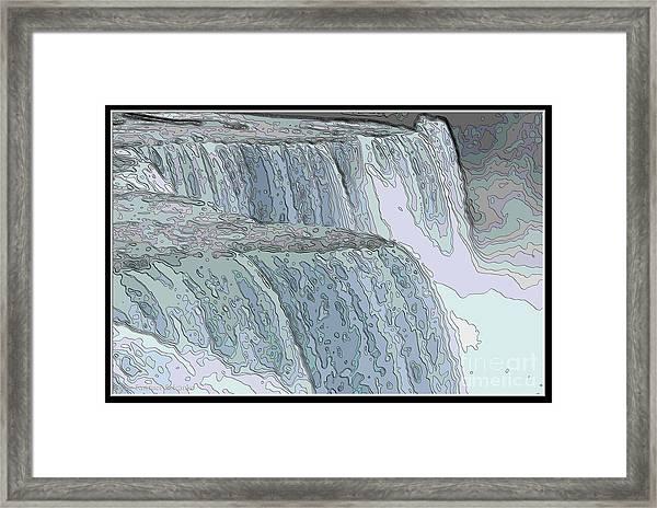 Contour Line Drawing Rose : Niagara falls contour drawing effect framed print by rose santuci