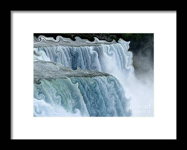 Curlicues Framed Print featuring the photograph Niagara Falls With Curlicue Effect by Rose Santuci-Sofranko
