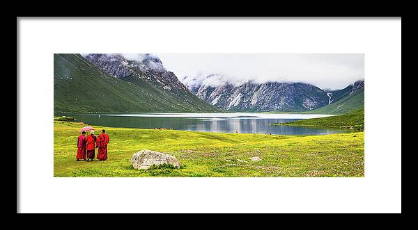Chinese Culture Framed Print featuring the photograph Nianbaoyuze National Geopark, Qinghai by Feng Wei Photography