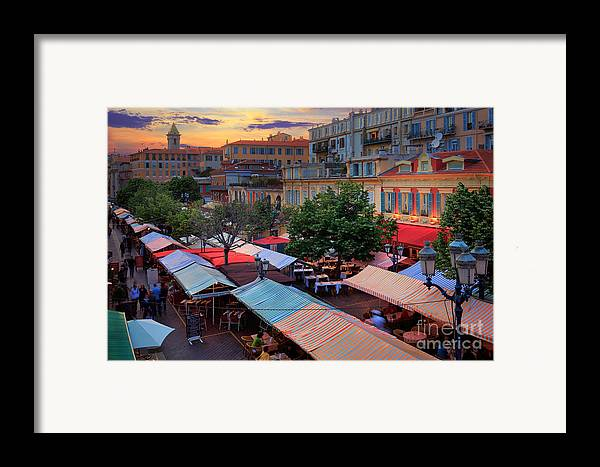 Cote D'azur Framed Print featuring the photograph Nice Flower Market by Inge Johnsson