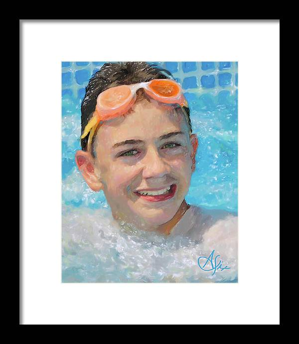 Portrait Framed Print featuring the painting Nick by Arthur Fix