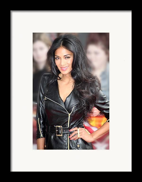 Jezcself Framed Print featuring the photograph Nicole Scherzinger 21 by Jez C Self