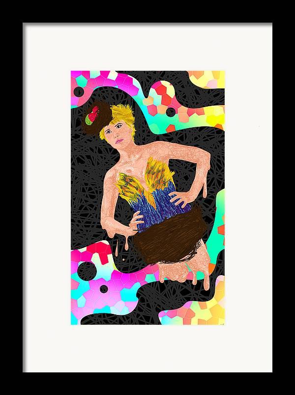 Did D'oiseau De Angela Balderston Framed Print featuring the painting Nid D'oiseau De Angela Balderston by Kenal Louis