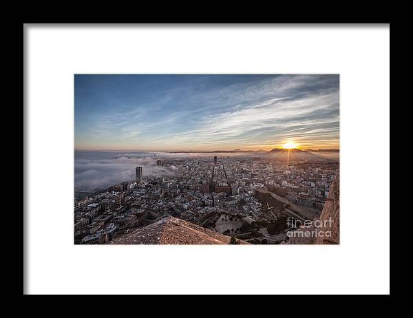 Alicante Framed Print featuring the photograph Niebla en Alicante by Eugenio Moya