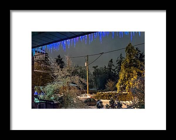 Steve Harrington Framed Print featuring the photograph Night After The Ice Storm by Steve Harrington