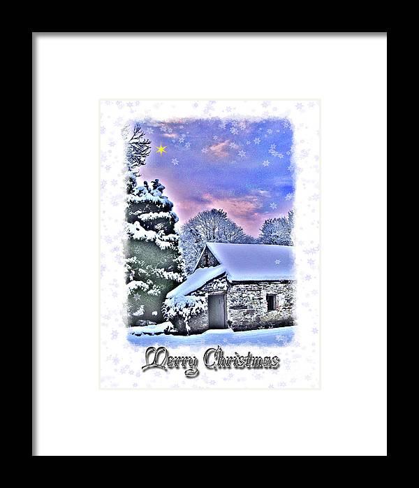 Christmas Framed Print featuring the photograph Christmas Card 27 by Nina Ficur Feenan