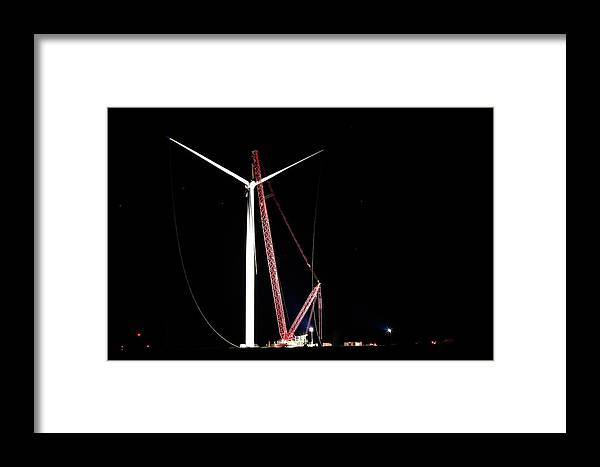 Night Framed Print featuring the photograph Night Lift by Paul Wash