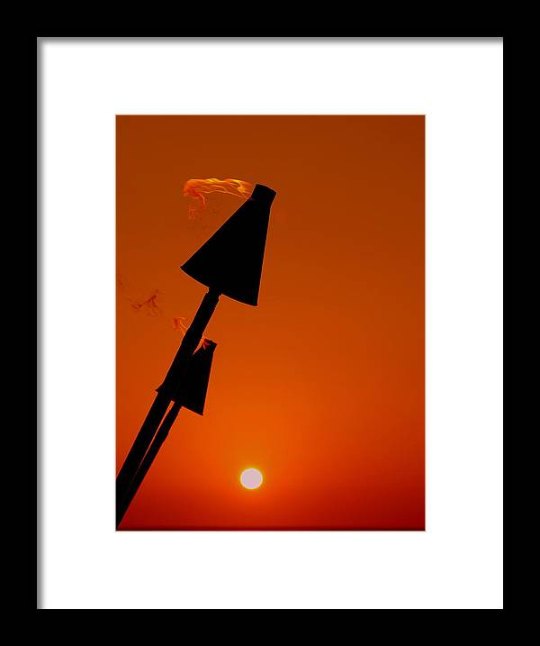 Tropical Framed Print featuring the photograph Night Light by Athala Carole Bruckner