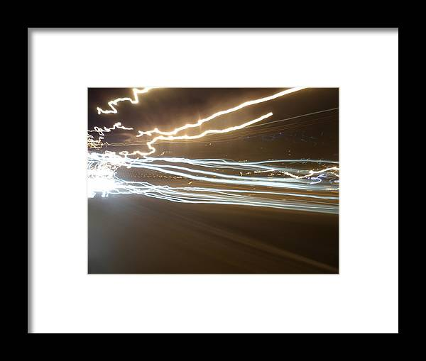 Night Lights Framed Print featuring the pyrography Night Lights by Olivia CLover