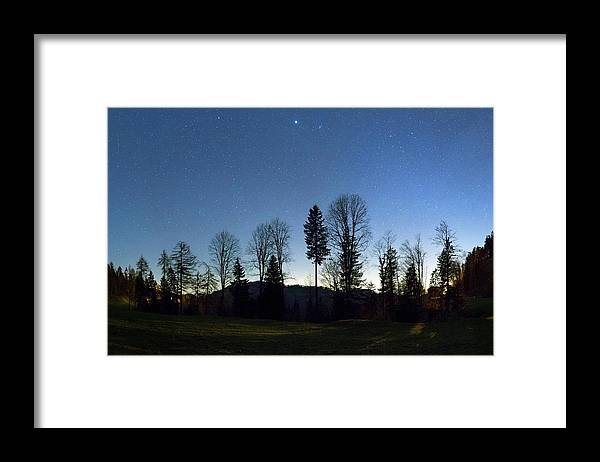 Beehive Framed Print featuring the photograph Night Panorama With Stars by Dr Juerg Alean