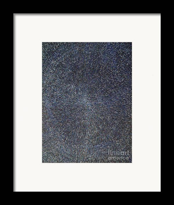 Abstract Framed Print featuring the painting Night Radiation by Dean Triolo
