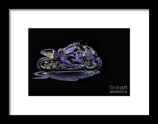 Motorcycle Framed Print featuring the photograph Night Rider by Nigel Jones