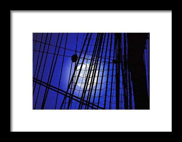 'tall Ships' Framed Print featuring the photograph Night Rigging by Mike Flynn