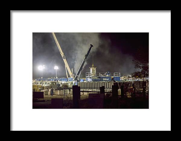 Night Framed Print featuring the photograph Night Time Frac by Dan Mulligan