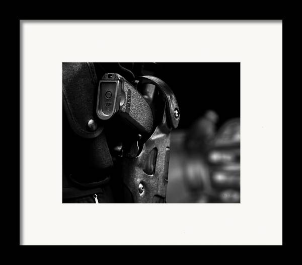 Police Framed Print featuring the photograph Night Traffic Stop Two by Bob Orsillo