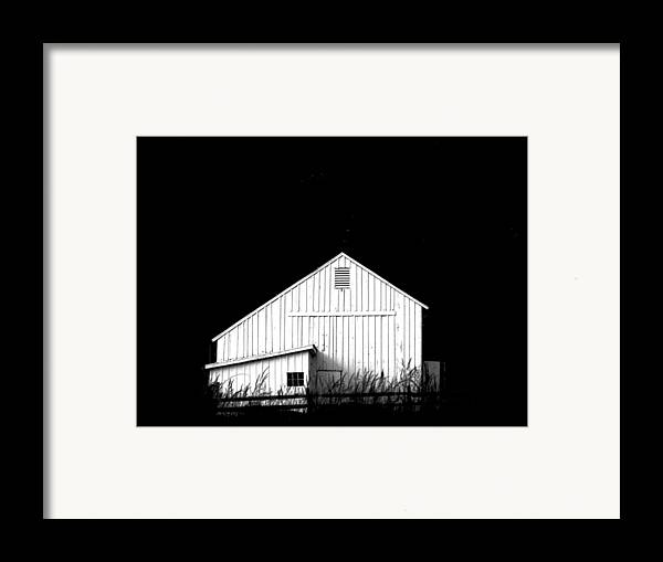 White Barns Framed Print featuring the photograph Nightfall by Angela Davies